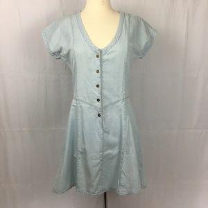 "Current Elliott ""The Valley"" Chambray Denim Dress"